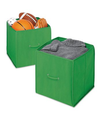 Green Collapsible Cube - Set of Two
