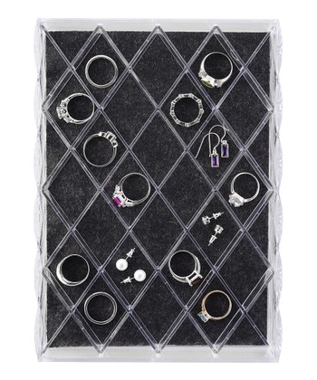 40-Section Diamond Jewelry Tray