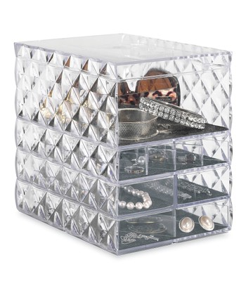 Clear Diamond Jewelry Tray Set