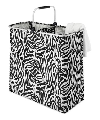 Zebra Double Laundry Hamper