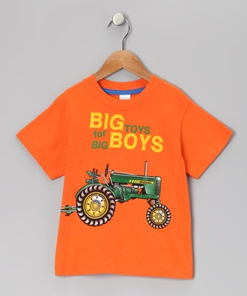 Orange 'Big Boy Toys' Tee - Infant