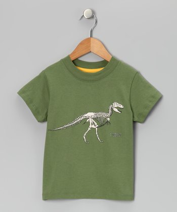 Sage T-Rex Fossil Tee - Infant & Toddler
