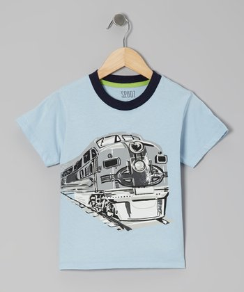 Light Blue Train Tee - Infant, Toddler & Boys