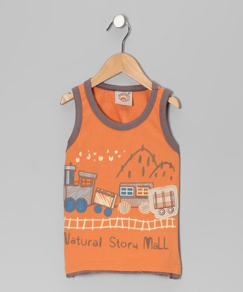Orange 'Natural Story' Tank - Infant & Boys