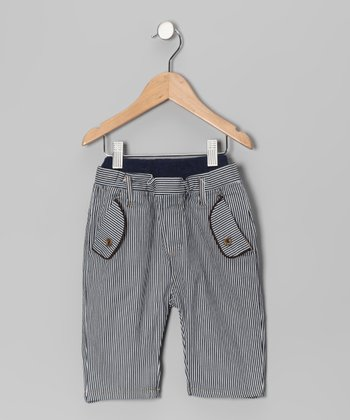 Navy Stripe Pants - Boys