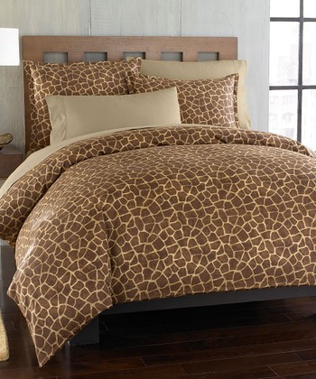 Giraffe Animal King Duvet Set