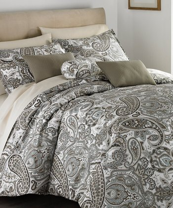 Multicolor Latte Comforter Set