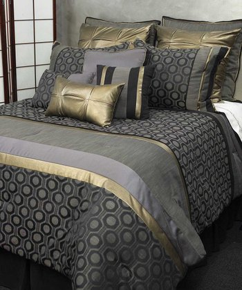 Black Meteor Comforter Set
