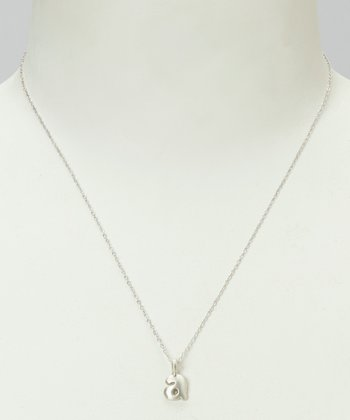 Sterling Silver 'A' Pendant Necklace