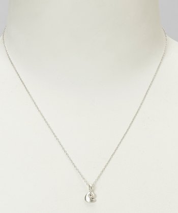 Sterling Silver 'E' Pendant Necklace