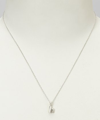 Sterling Silver 'H' Pendant Necklace