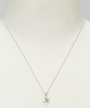 Sterling Silver 'X' Pendant Necklace