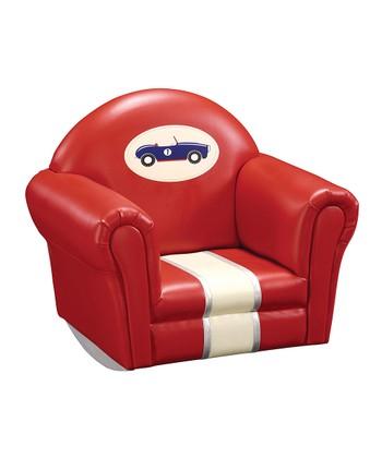 Retro Racer Upholstered Rocker