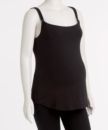 Black Plus-Size Nursing Tank