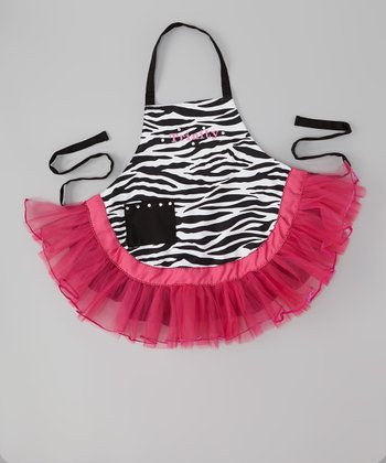 Zebra Personalized Tutu Apron - Kids
