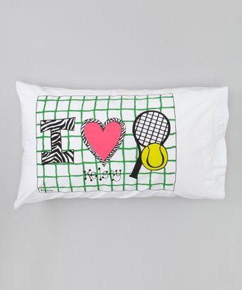 'I Love Tennis' Personalized Standard Pillowcase