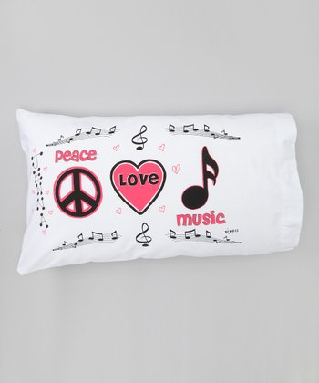 'Peace Love Music' Personalized Standard Pillowcase