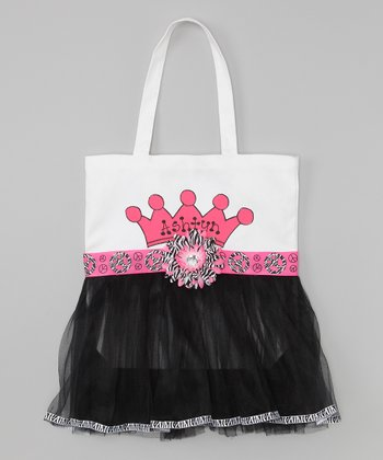 Peace Sign Personalized Tutu Tote
