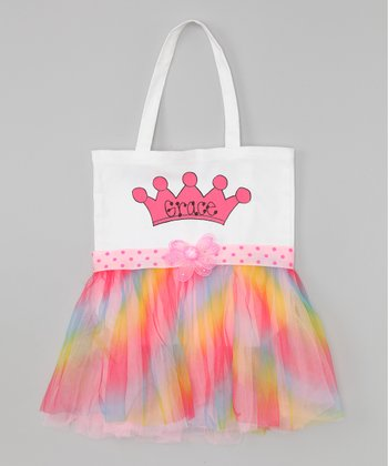 Rainbow Personalized Tutu Tote