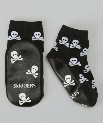 Black Skull & Crossbones Gripper Socks