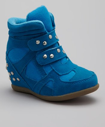 Blue Rebel Wedge Sneaker