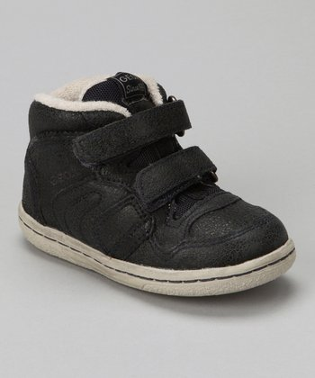 Navy Baby Flick Boy Hi-Top Sneaker