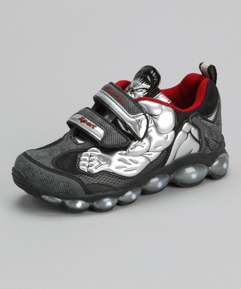 Silver & Black Jr. Tuono Light-up Sneaker