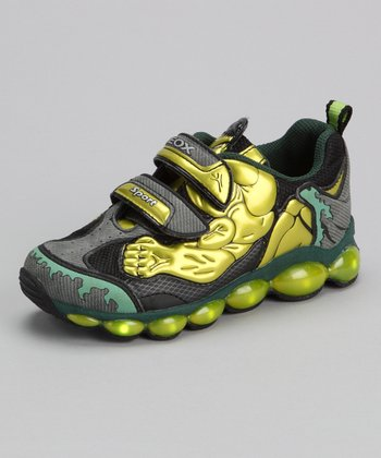 Lime & Dark Green Jr. Tuono Light-up Sneaker