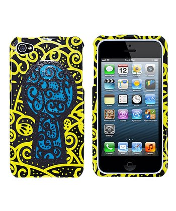Yellow & Blue Keyhole Case for iPhone 4/4S