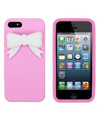 Pink & White Bow Case for iPhone 5