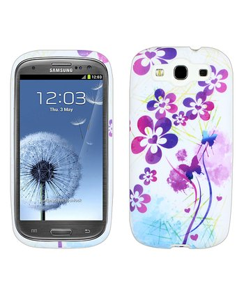 Purple & White Flower Power Case for Samsung Galaxy S III