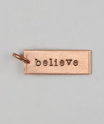 Copper 'Believe' Charm