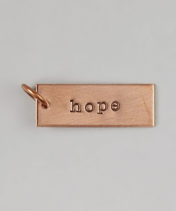 Copper 'Hope' Charm