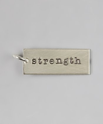 Sterling Silver 'Strength' Charm
