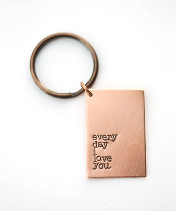 Copper Expressions 'Every Day I Love You' Key Chain