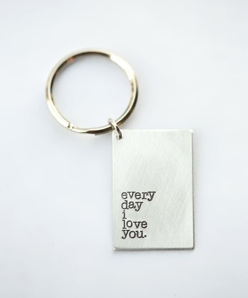 Silver Expressions 'Every Day I Love You' Key Chain