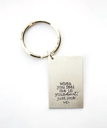 Silver Expressions 'In Your Heart' Key Chain