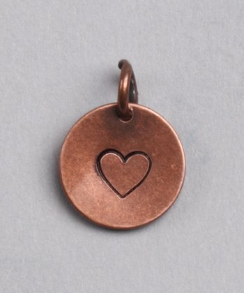 Copper Heart Charm