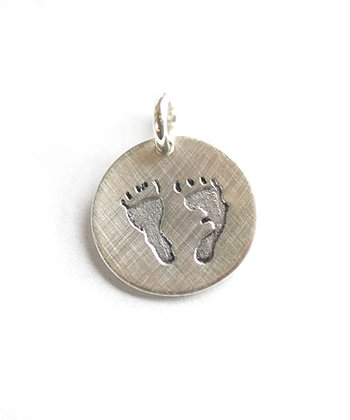 Sterling Silver Baby Footprints Charm