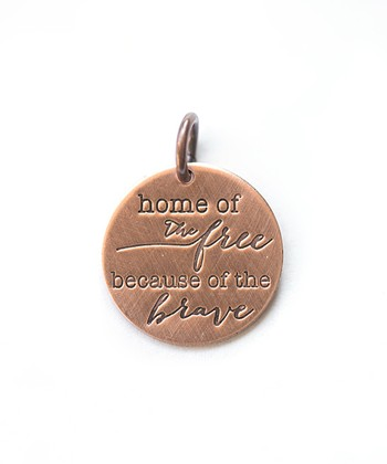 Copper Expressions 'Because of the Brave' Charm