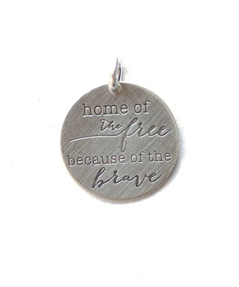 Sterling Silver Expressions 'Because of the Brave' Charm