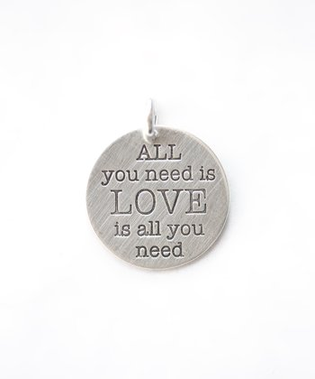 Sterling Silver Expressions 'All You Need Is Love' Charm