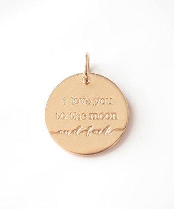 Gold Expressions 'Love You to the Moon' Charm