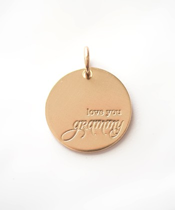 Gold Expressions 'Love You Grammy' Charm