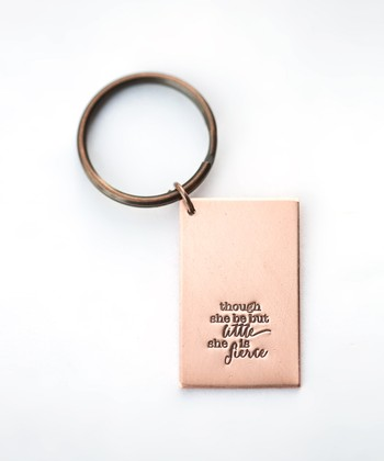 Copper Expressions 'She Is Fierce' Key Chain