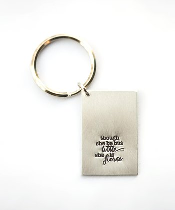 Silver Expressions 'She Is Fierce' Key Chain