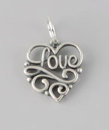 Sterling Silver 'Love' Cutout Charm