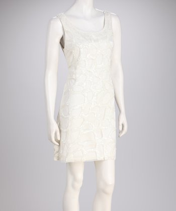 White Sequin Sleeveless Dress