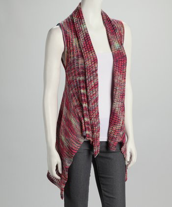 Red & Blue Knit Vest