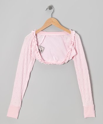 Baby Pink Warm-Up Shrug - Girls